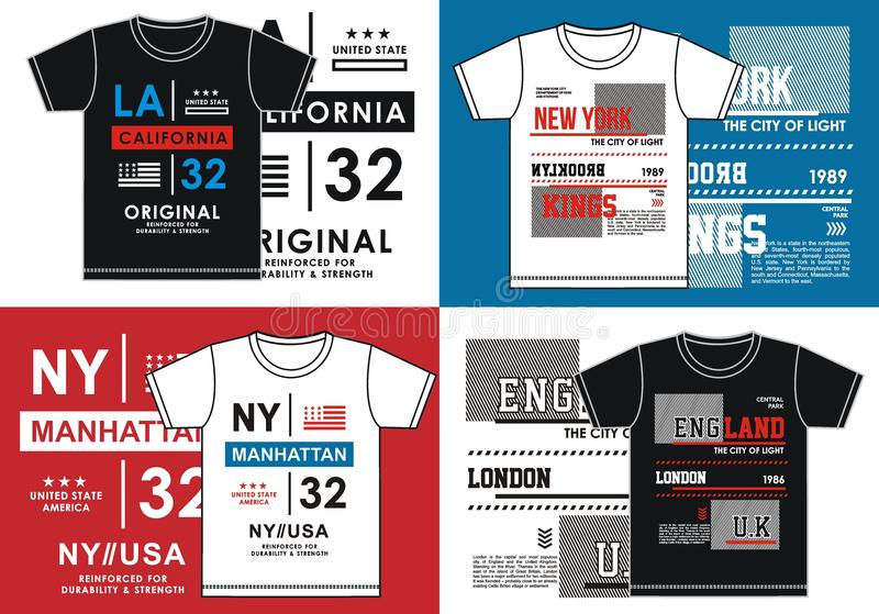 T shirt printing, Vector Image stock illustration