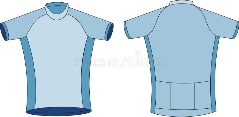 T-shirt que dá um ciclo Jersey ilustração royalty free