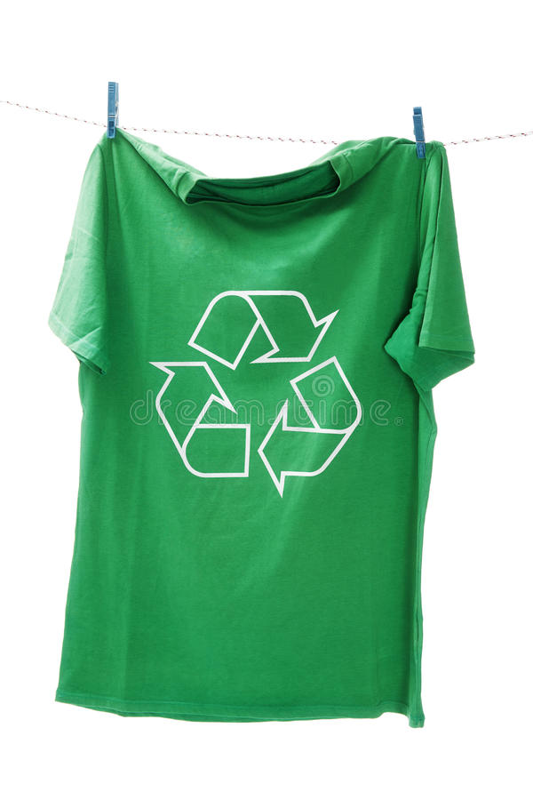Download T-shirt With The Recycle Symbol Royalty Free Stock Image - Image: 18996806