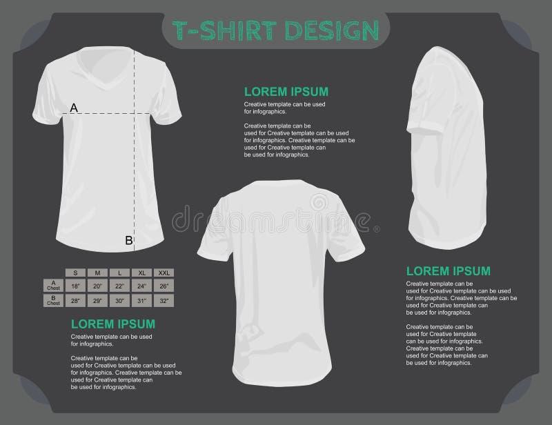 T-Shirt Schablone. lizenzfreie abbildung