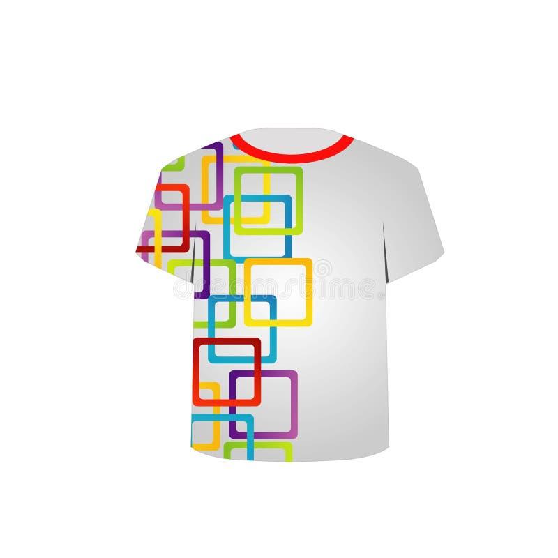 T-Shirt Schablone Mit Bunter Mustergraphik Stock Abbildung ...