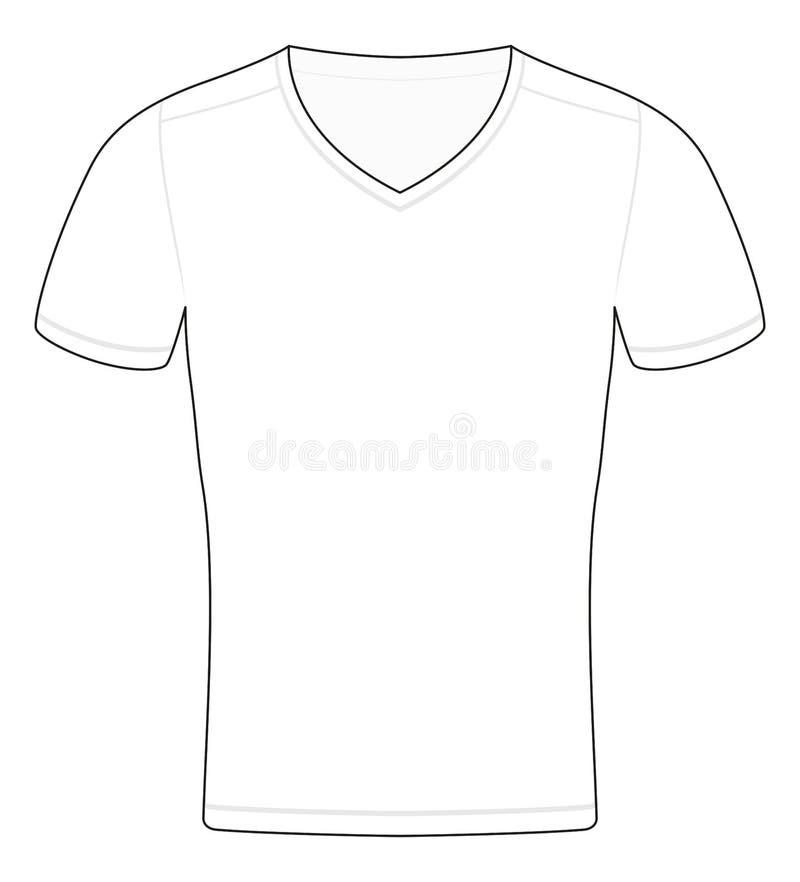 T-Shirt Schablonen-Entwurfs-schematische Probe stock abbildung