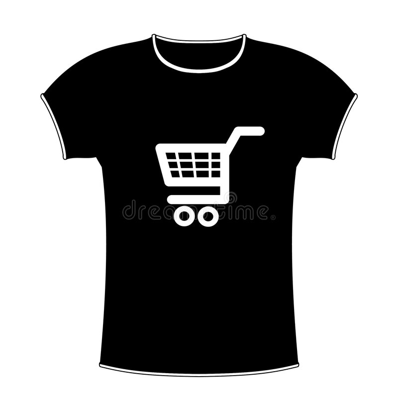 Download T-shirt shopping stock illustration. Image of clipart - 4690459