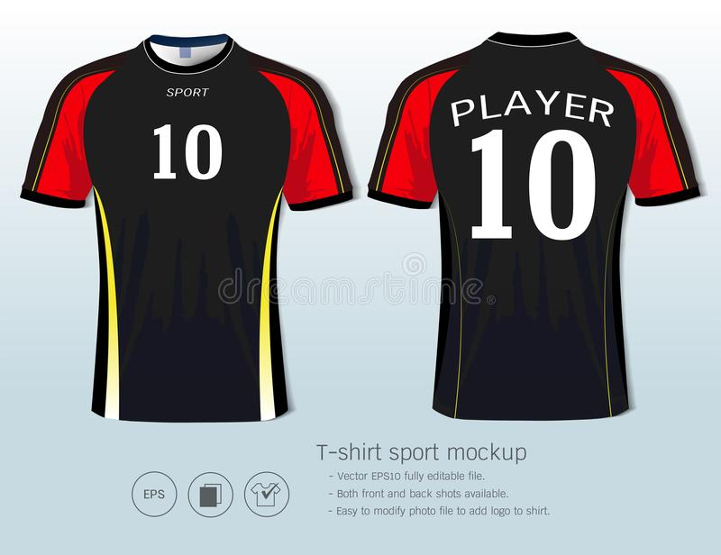 T-shirt sport design template for football club or all sportswear. stock illustration
