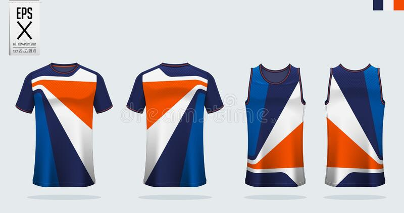 T Shirt Sport Mockup Template Design For Soccer Jersey Football Kit And Tank Top For Basketball Jersey Stock Vector Illustration Of Layout Number 181127984