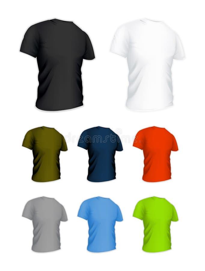 T-shirt sur le blanc illustration libre de droits