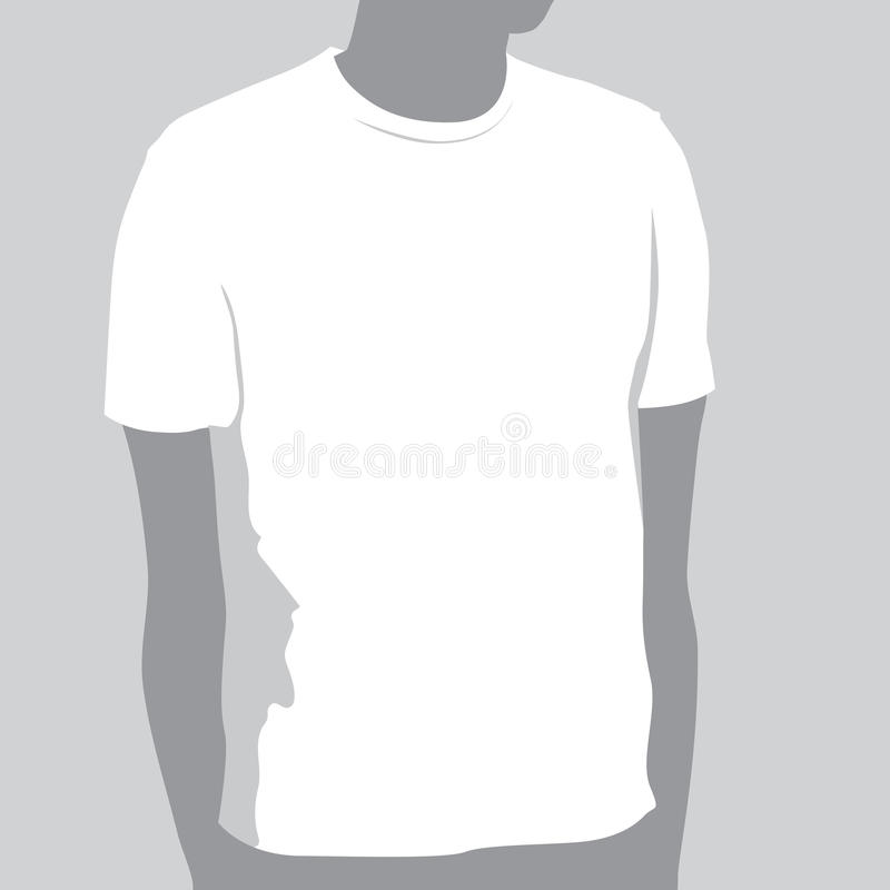 Download T-shirt Template stock vector. Image of adult, body, silhouette - 11282811