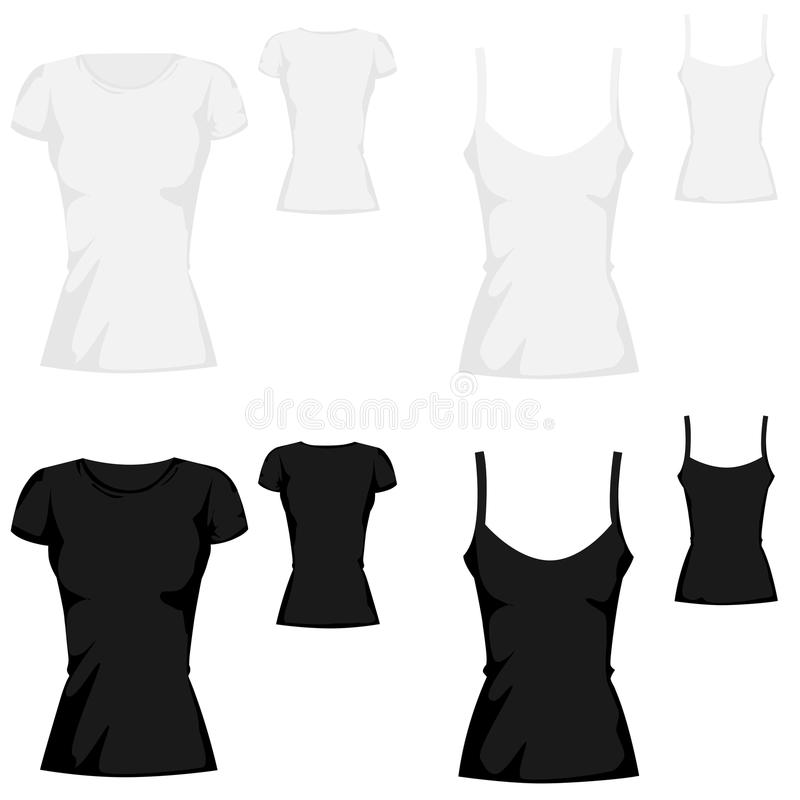 T-shirt Template Collection Royalty Free Stock Photo