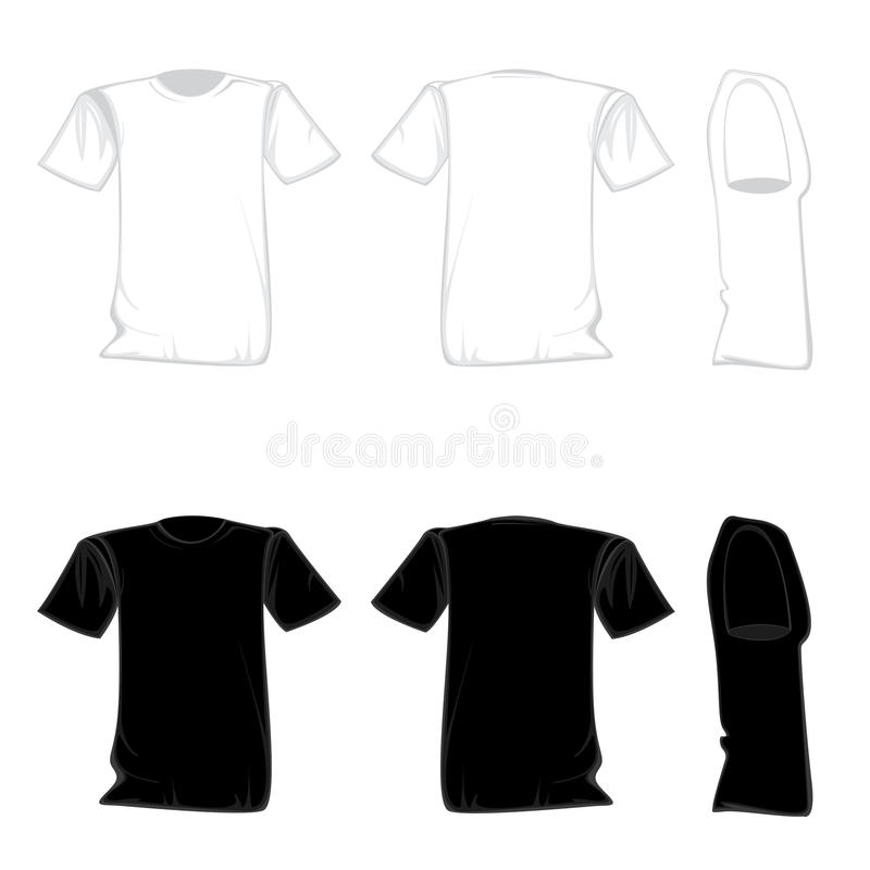 T Shirt Template Design Set Shirt For Front With Back And