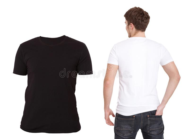 T-shirt Template. Front And Back View. Mock Up Isolated On White ...