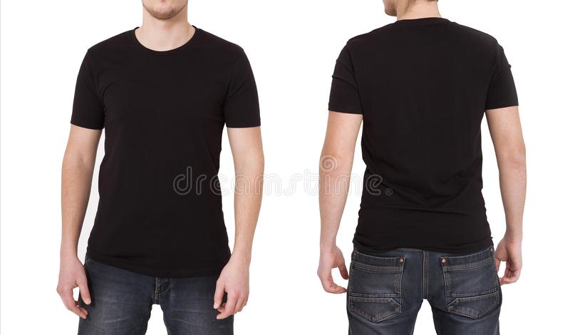 TShirt Template Front And Back View Mock Up Isolated On White