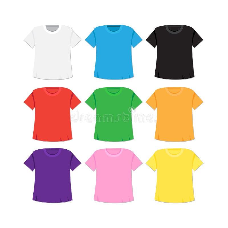 T-shirt Template And Mockup Stock Illustration - Illustration of ...