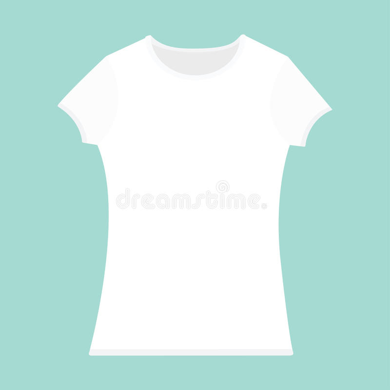 T-shirt Template. White Color. Woman Model. T Shirt Mockup. Front ...