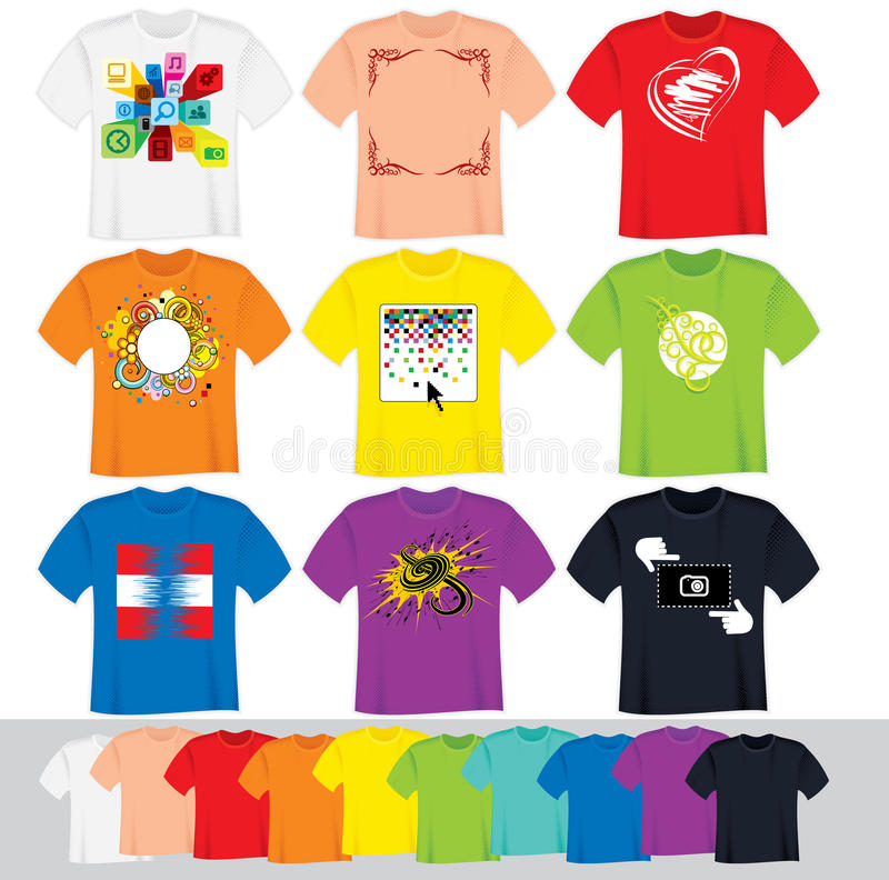 T Shirt Templates Royalty Free Stock Photography
