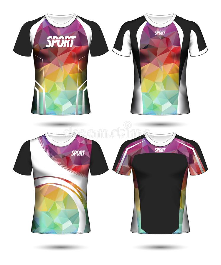 T-shirt templates abstract geometric collection of different colors polygonal mosaic stock photos