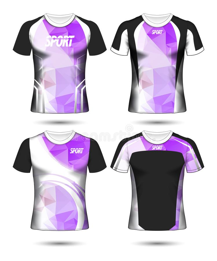 T-shirt templates abstract geometric collection of different colors polygonal mosaic royalty free stock image
