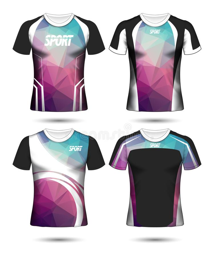 T-shirt templates abstract geometric collection of different colors polygonal mosaic stock images