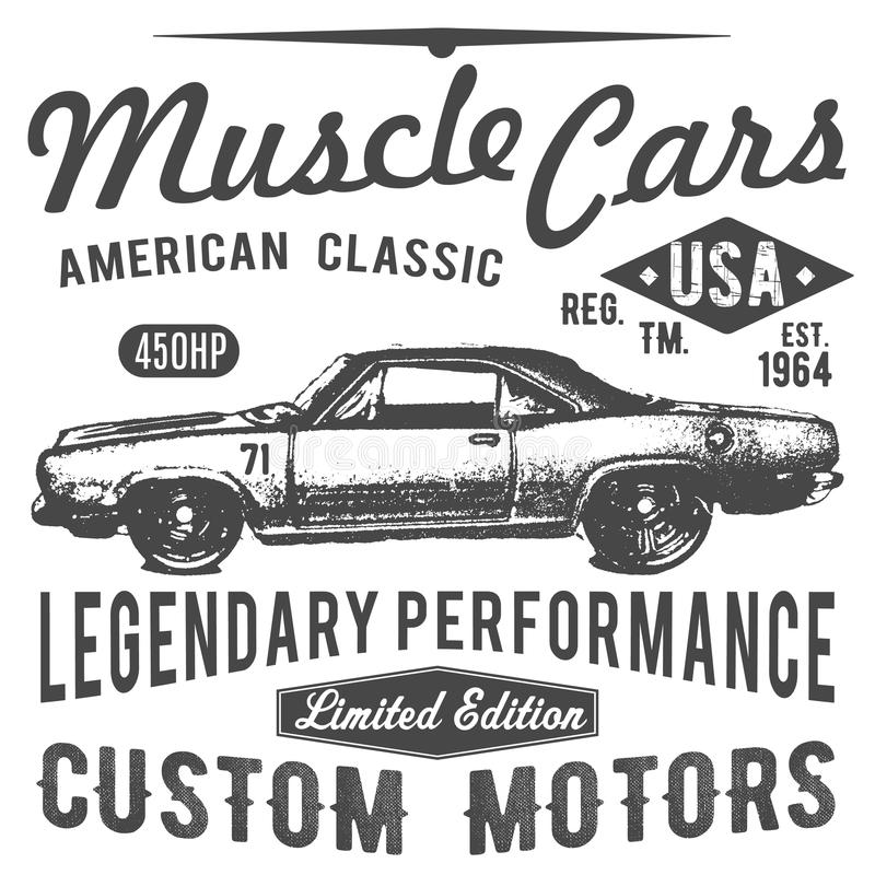 Download T Shirt Typography Design Retro Car Vector Printing Graphics Typographic