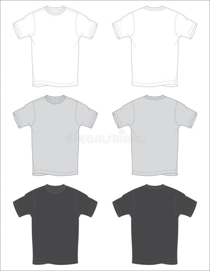 T-Shirt umreißt Vektor lizenzfreie stockfotografie