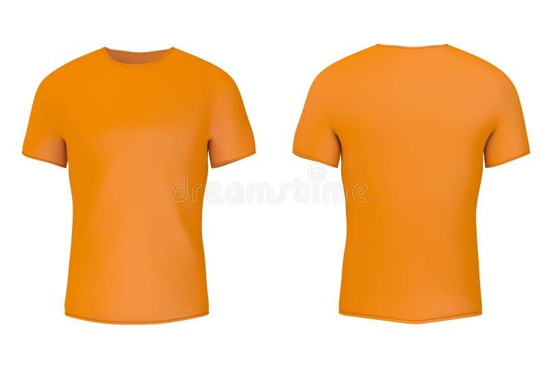 T-shirt vazio alaranjado do close up com espaço vazio para o vosso projeto rendi??o 3d ilustração do vetor