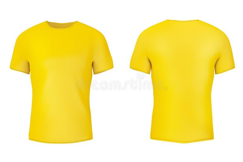 T-shirt vazio amarelo do close up com espaço vazio para o vosso projeto rendi??o 3d ilustração royalty free