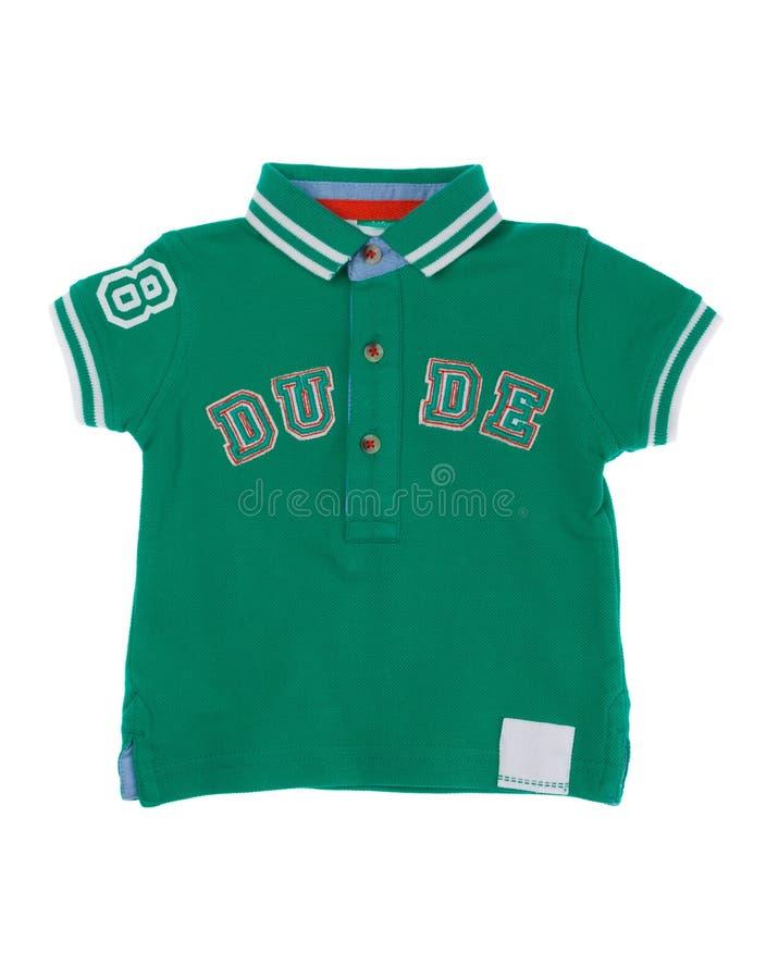 T-shirt verde para sua criança foto de stock royalty free
