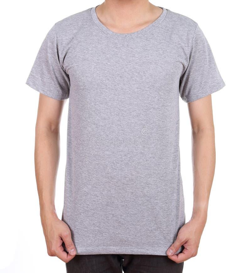 T-shirt vide sur l'homme image stock