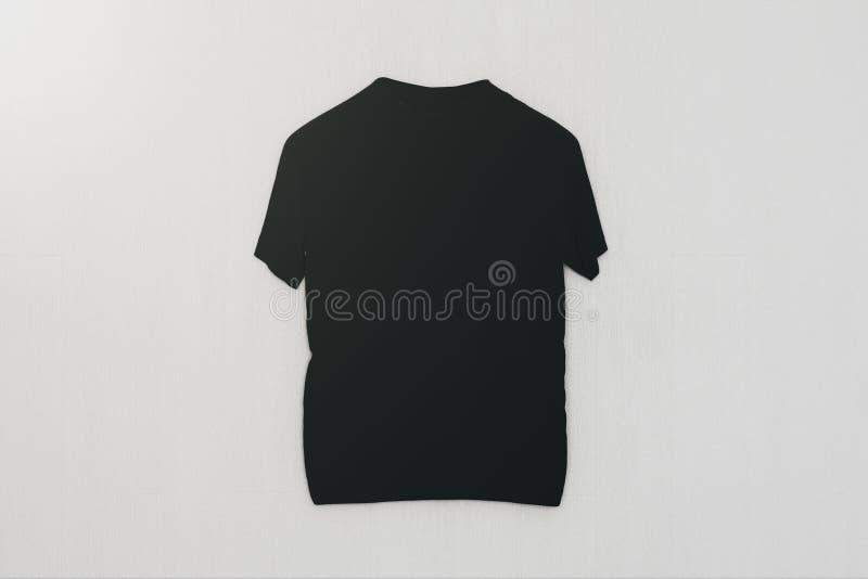T-shirt vide sur le fond blanc photo stock