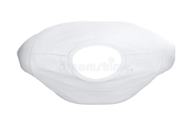 T-shirt white fabric, top view stock illustration