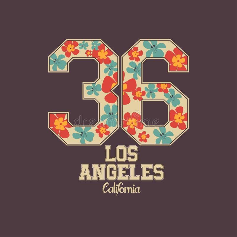 T-shirtdruk met bloemen vector illustratie