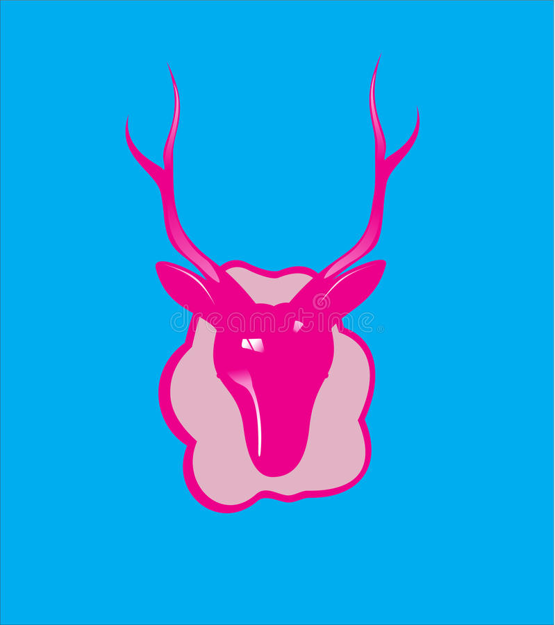 T-SHIRTontwerp - Amerikaanse elandenhoofd royalty-vrije stock fotografie