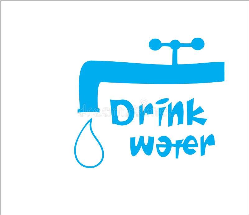 T-shirtontwerp - drink water royalty-vrije stock foto
