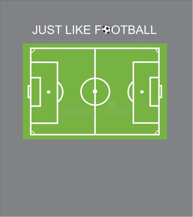 T-shirtontwerp - enkel zoals voetbal royalty-vrije stock fotografie