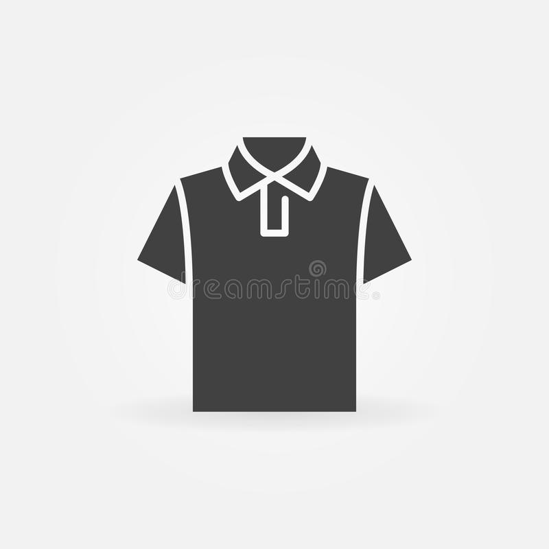T-shirtpictogram T-shirt vectorsymbool royalty-vrije illustratie