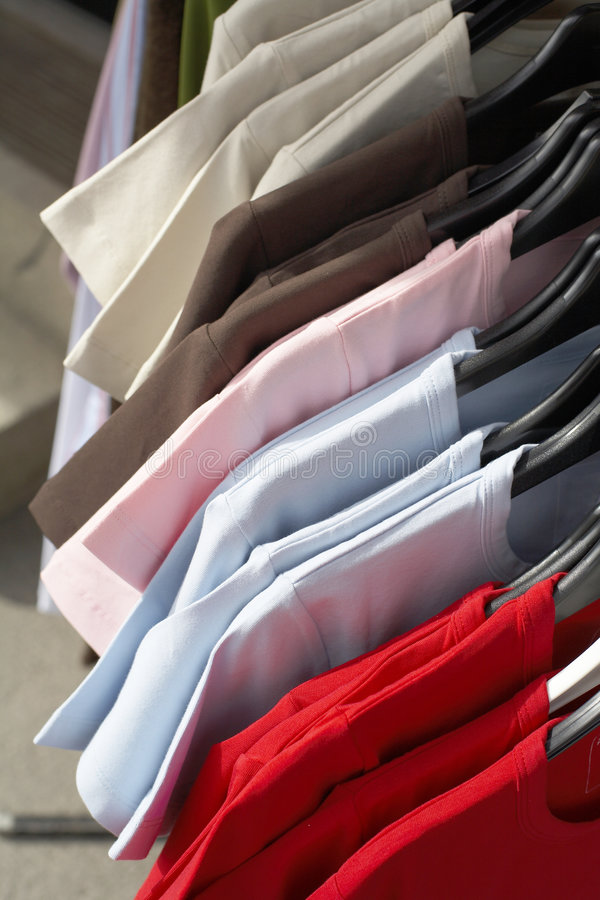 Download T-Shirts stock photo. Image of outside, shopping, cotton - 1014748