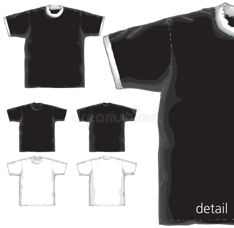Download T-shirts basics models. stock vector. Image of product - 5597430