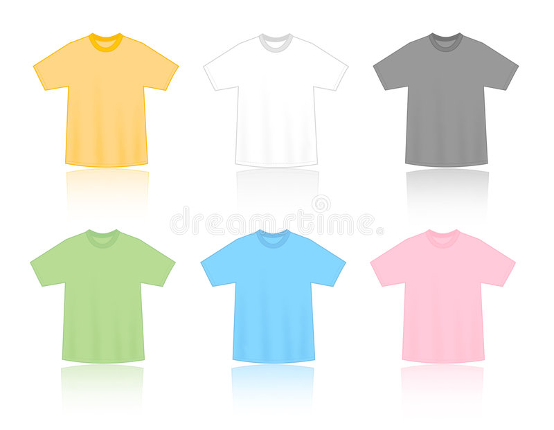 Download T-shirts blank templates stock vector. Image of kids, empty - 4745821