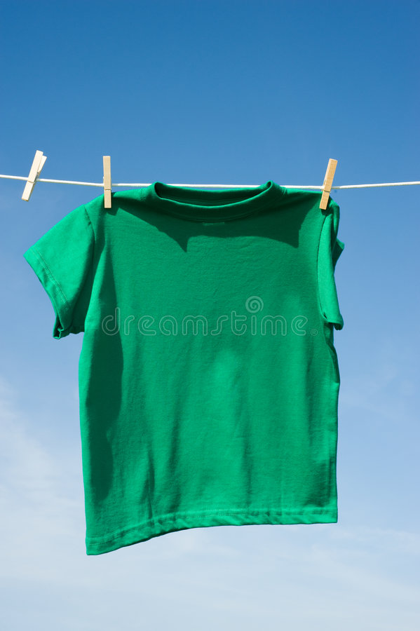 T-Shirts On A Clothesline Royalty Free Stock Photos