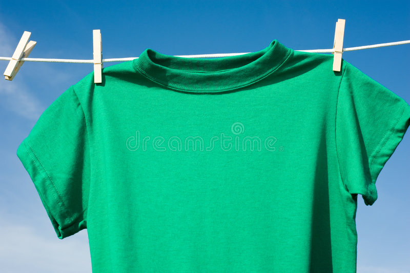 Download T-Shirts on a Clothesline stock image. Image of shirt - 5271065