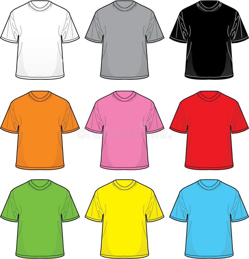 T-shirts de vecteur illustration de vecteur