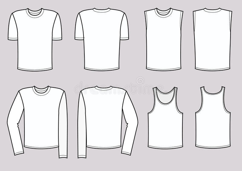 T-shirts for man .Vector clothes royalty free stock images