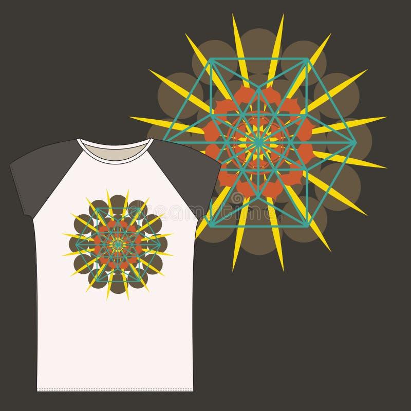 T-shirts met de Tetrageder van de Ster royalty-vrije illustratie