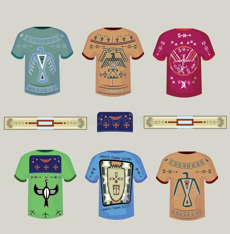 T-shirts met Indische ornamenten vector illustratie