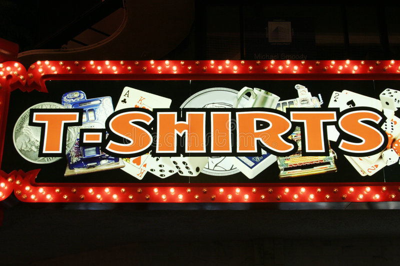 Download T-shirts neon lights editorial stock photo. Image of shopping - 1334783