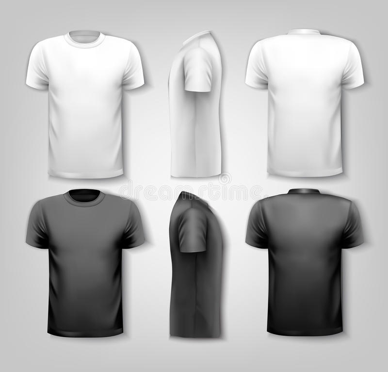 T-shirts with sample text space. Vector vector illustration