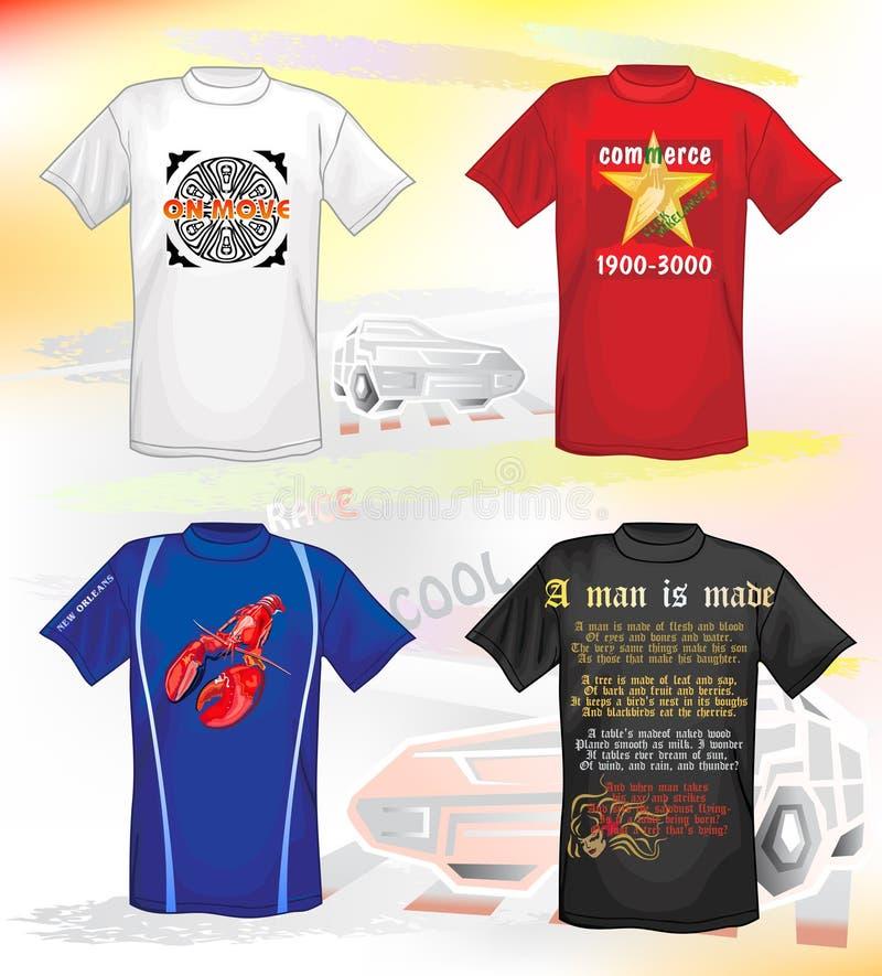 T-shirts voor mensen royalty-vrije illustratie