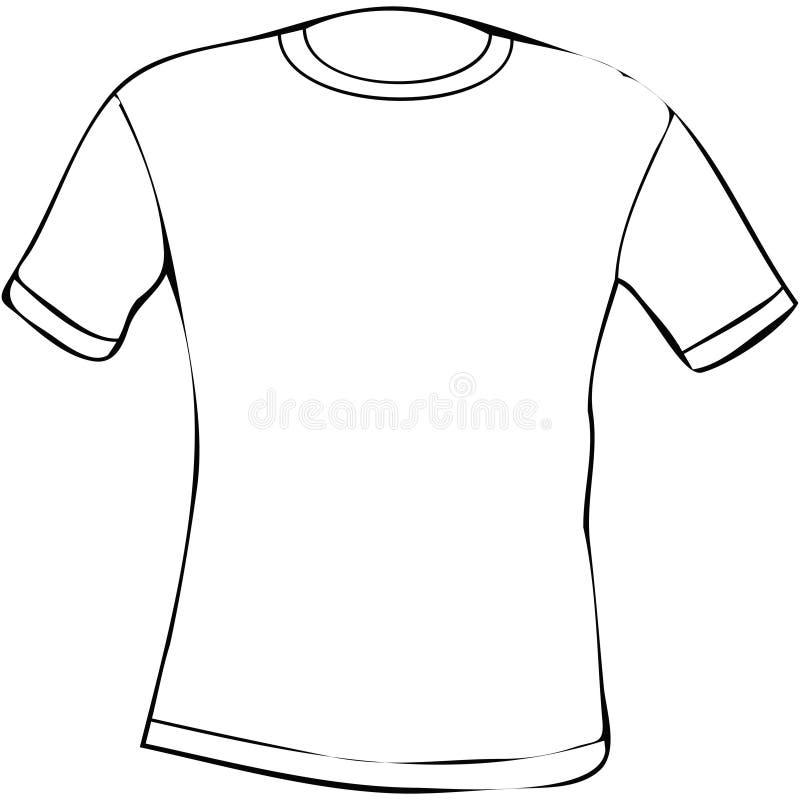 T-skjorta stock illustrationer