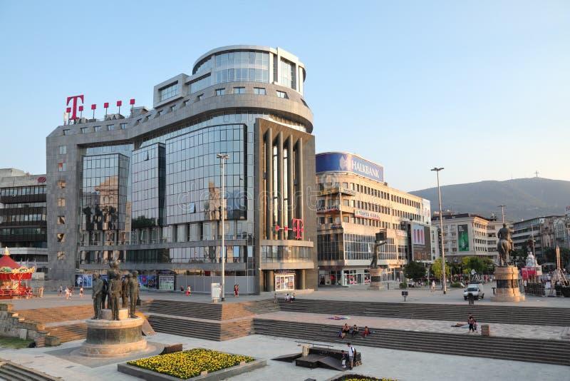 T Skopje di costruzione mobile immagine stock libera da diritti