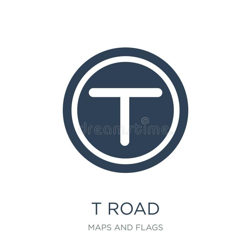 t skrzyżowania drogowa ikona w modnym projekta stylu t skrzyżowania drogowa ikona odizolowywająca na białym tle t skrzyżowania dr ilustracja wektor