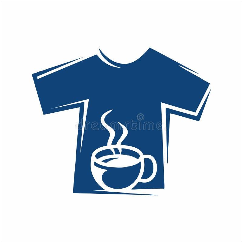T-Stücke und Kaffee logoac lizenzfreie abbildung